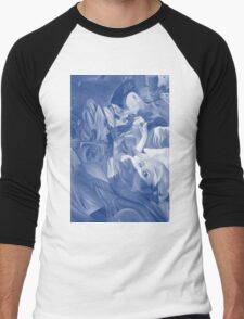 Within my heart a flame of desires, colorful abstract painting with fantasy girls. Men's Baseball ¾ T-Shirt