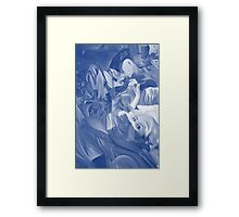 Within my heart a flame of desires, colorful abstract painting with fantasy girls. Framed Print