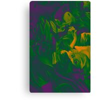 Within my heart a flame of desires, colorful abstract painting with fantasy girls. Canvas Print