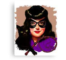 Vintage Catwoman Canvas Print