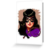 Vintage Catwoman Greeting Card