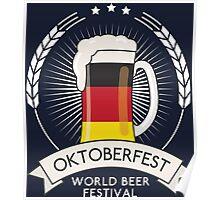 Germany Oktoberfest Glass Poster