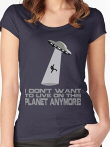 I don't want to live on this planet anymore Women's Fitted Scoop T-Shirt