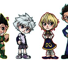 HxH - Protag Group Chibis by nickleerie