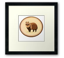 tanooki racoon Framed Print