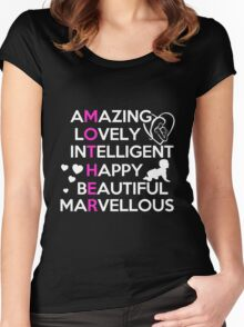 Mom - Amazing Lovely Intelligent Happy Beautiful Marvellous T-shirts Women's Fitted Scoop T-Shirt
