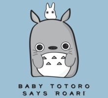 Baby Totoro says ROAR by themoderngeek