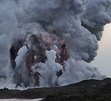 Kilauea Volcano at Kalapana 10 by Alex Preiss