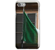 Italy flag in front of a window iPhone Case/Skin