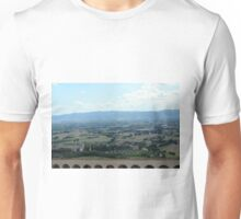 Natural landscape with the hills from Assisi Unisex T-Shirt