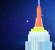 Empire State Building New York Illustration by printsforwalls