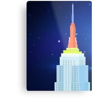 Empire State Building New York Illustration Metal Print