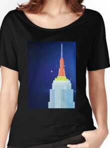 Empire State Building New York Illustration Women's Relaxed Fit T-Shirt