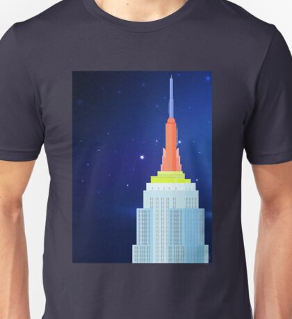 Empire State Building New York Illustration Unisex T-Shirt