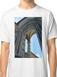 Gothic column and arch in Siena Classic T-Shirt