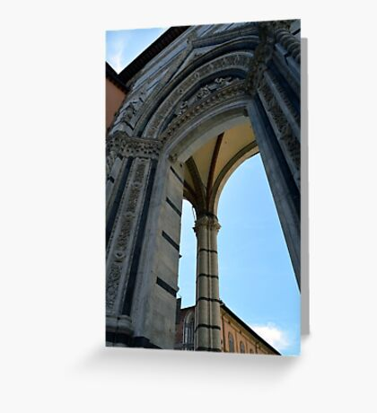 Gothic column and arch in Siena Greeting Card