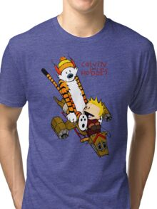 Calvin And Hobbes : Forever Young Tri-blend T-Shirt