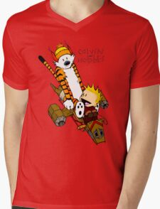 Calvin And Hobbes : Forever Young Mens V-Neck T-Shirt