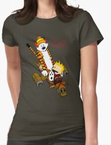 Calvin And Hobbes : Forever Young Womens Fitted T-Shirt