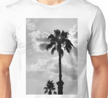 Palm Trees In Black and White Unisex T-Shirt