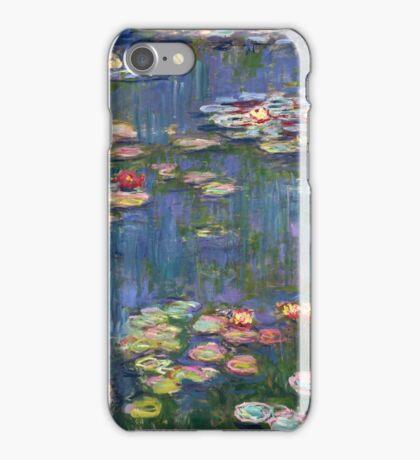 1916-Claude Monet-Waterlilies-200 x 200 iPhone Case/Skin