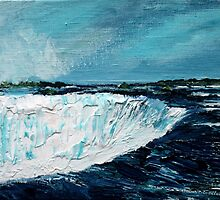 Niagara Falls Acrylic On Canvas Board Contemporary Painting by JamesPeart