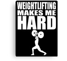 Funny Sport - Weight Lifting Makes Me Hard -white Canvas Print
