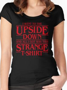I Went to the Upside Down Women's Fitted Scoop T-Shirt