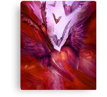 Flight Of The Heart - Red Canvas Print