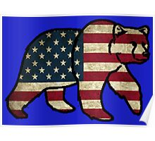 America Bear Poster