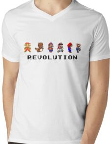 Mario Revolution Mens V-Neck T-Shirt