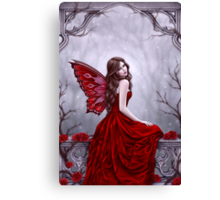 Winter Rose Butterfly Fairy Canvas Print