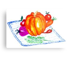Collection of Vegetables Metal Print
