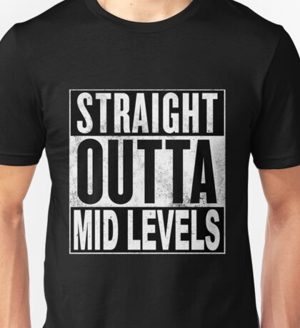 Straight Outta Mid Levels, Hong Kong Unisex T-Shirt