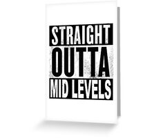 Straight Outta Mid Levels, Hong Kong Greeting Card