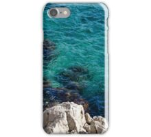 Cote D Azur - Stark White and Silky Azure Blue iPhone Case/Skin