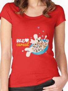 We Love Cereal Women's Fitted Scoop T-Shirt