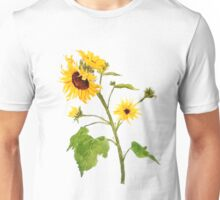 sunflower watercolor painting  Unisex T-Shirt