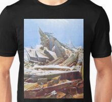 Rock face by Caspar David Friedrich Unisex T-Shirt
