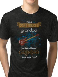 Guitar T-shirt - Real grandpas play guitar Tri-blend T-Shirt