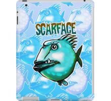 scarface fish cartoon style illustration  iPad Case/Skin