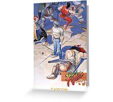 Final Fight Classic Box art Greeting Card