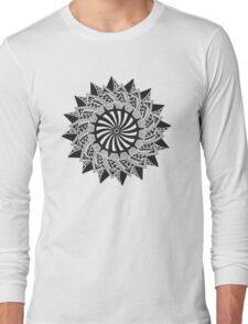 Black abstract drawing Long Sleeve T-Shirt
