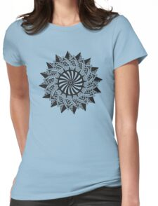 Black abstract drawing Womens Fitted T-Shirt