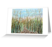A walk to the dunes Greeting Card