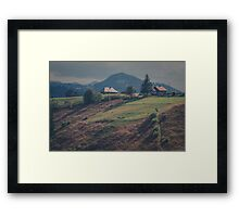 Hilltop Village Framed Print