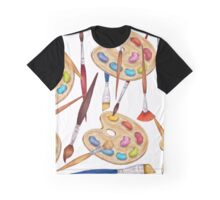 pattern palette with brushes Graphic T-Shirt