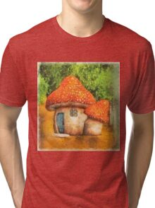 Fairy Mushroom House Tri-blend T-Shirt