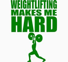 Funny Sport - Weight Lifting Makes Me Hard - green Unisex T-Shirt