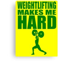 Funny Sport - Weight Lifting Makes Me Hard - green Canvas Print